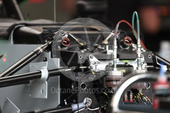World © Octane Photographic Ltd. Formula 1 – British GP - Pit Lane. Haas F1 Team VF-18. Silverstone Circuit, Towcester, UK. Thursday 5th July 2018.
