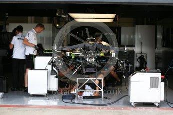 World © Octane Photographic Ltd. Formula 1 – British GP - Pit Lane. Mercedes AMG Petronas Motorsport AMG F1 W09 EQ Power+. Silverstone Circuit, Towcester, UK. Thursday 5th July 2018.