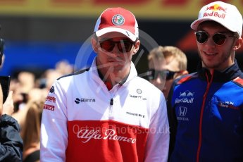 World © Octane Photographic Ltd. Formula 1 – Canadian GP - Drivers Parade. Alfa Romeo Sauber F1 Team C37 – Marcus Ericsson and Scuderia Toro Rosso STR13 – Pierre Gasly. Circuit Gilles Villeneuve, Montreal, Canada. Sunday 10th June 2018.
