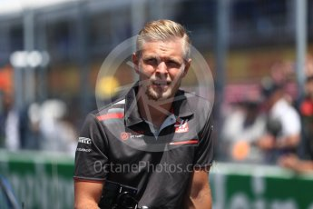 World © Octane Photographic Ltd. Formula 1 – Canadian GP - Drivers Parade. Haas F1 Team VF-18 – Kevin Magnussen. Circuit Gilles Villeneuve, Montreal, Canada. Sunday 10th June 2018.
