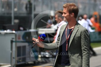 World © Octane Photographic Ltd. Formula 1 - Canadian GP - Grid. Nico Rosberg. Circuit Gilles Villeneuve, Montreal, Canada. Sunday 10th June 2018.