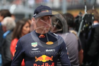 World © Octane Photographic Ltd. Formula 1 – Canadian GP - Grid. Aston Martin Red Bull Racing TAG Heuer RB14 – Max Verstappen. Circuit Gilles Villeneuve, Montreal, Canada. Sunday 10th June 2018.