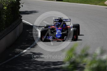 World © Octane Photographic Ltd. Formula 1 – Canadian GP - Practice 1. Scuderia Toro Rosso STR13 – Brendon Hartley. Circuit Gilles Villeneuve, Montreal, Canada. Friday 8th June 2018.