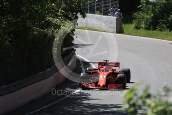 World © Octane Photographic Ltd. Formula 1 – Canadian GP - Practice 1. Scuderia Ferrari SF71-H – Sebastian Vettel. Circuit Gilles Villeneuve, Montreal, Canada. Friday 8th June 2018.