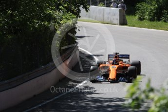 World © Octane Photographic Ltd. Formula 1 – Canadian GP - Practice 1. McLaren MCL33 – Fernando Alonso. Circuit Gilles Villeneuve, Montreal, Canada. Friday 8th June 2018.