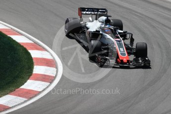 World © Octane Photographic Ltd. Formula 1 – Canadian GP - Practice 2. Haas F1 Team VF-18 – Romain Grosjean. Circuit Gilles Villeneuve, Montreal, Canada. Friday 8th June 2018.