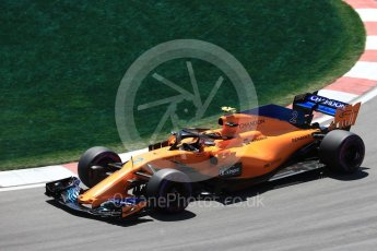World © Octane Photographic Ltd. Formula 1 – Canadian GP - Practice 2. McLaren MCL33 – Stoffel Vandoorne. Circuit Gilles Villeneuve, Montreal, Canada. Friday 8th June 2018.