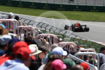 World © Octane Photographic Ltd. Formula 1 – Canadian GP - Practice 2. Aston Martin Red Bull Racing TAG Heuer RB14 – Max Verstappen. Circuit Gilles Villeneuve, Montreal, Canada. Friday 8th June 2018.