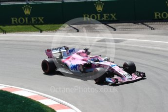 World © Octane Photographic Ltd. Formula 1 – Canadian GP - Practice 2. Sahara Force India VJM11 - Sergio Perez. Circuit Gilles Villeneuve, Montreal, Canada. Friday 8th June 2018.