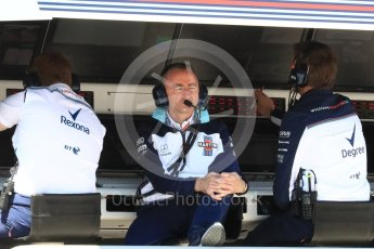 World © Octane Photographic Ltd. Formula 1 - Canadian GP - Practice 3. Paddy Lowe - Chief Technical Officer at Williams Martini Racing. Circuit Gilles Villeneuve, Montreal, Canada. Saturday 9th June 2018.