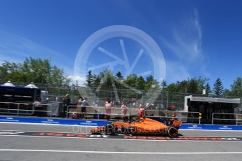 World © Octane Photographic Ltd. Formula 1 – Canadian GP - Practice 3. McLaren MCL33 – Stoffel Vandoorne. Circuit Gilles Villeneuve, Montreal, Canada. Saturday 9th June 2018.