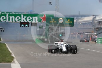World © Octane Photographic Ltd. Formula 1 – Canadian GP - Quailfying. Alfa Romeo Sauber F1 Team C37 – Marcus Ericsson. Circuit Gilles Villeneuve, Montreal, Canada. Saturday 9th June 2018.