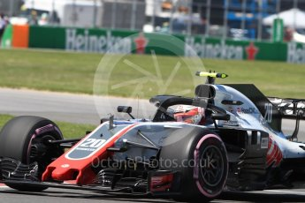 World © Octane Photographic Ltd. Formula 1 – Canadian GP - Quailfying. Haas F1 Team VF-18 – Kevin Magnussen. Circuit Gilles Villeneuve, Montreal, Canada. Saturday 9th June 2018.