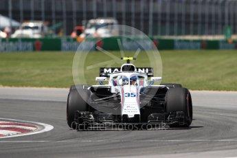 World © Octane Photographic Ltd. Formula 1 – Canadian GP - Quailfying. Williams Martini Racing FW41 – Sergey Sirotkin. Circuit Gilles Villeneuve, Montreal, Canada. Saturday 9th June 2018.