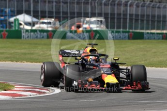 World © Octane Photographic Ltd. Formula 1 – Canadian GP - Quailfying. Aston Martin Red Bull Racing TAG Heuer RB14 – Daniel Ricciardo. Circuit Gilles Villeneuve, Montreal, Canada. Saturday 9th June 2018.