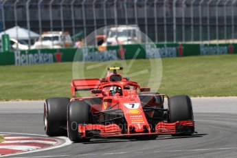 World © Octane Photographic Ltd. Formula 1 – Canadian GP - Quailfying. Scuderia Ferrari SF71-H – Kimi Raikkonen. Circuit Gilles Villeneuve, Montreal, Canada. Saturday 9th June 2018.