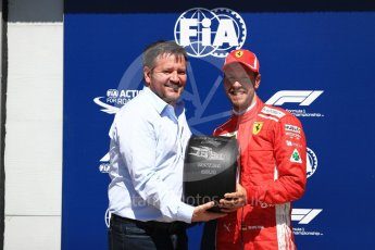 World © Octane Photographic Ltd. Formula 1 – Canadian GP - Quailfying. Scuderia Ferrari SF71-H – Sebastian Vettel and Paul Hembery. Circuit Gilles Villeneuve, Montreal, Canada. Saturday 9th June 2018.