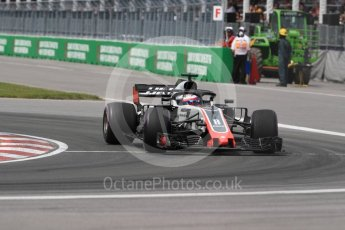 World © Octane Photographic Ltd. Formula 1 – Canadian GP - Race. Haas F1 Team VF-18 – Romain Grosjean. Circuit Gilles Villeneuve, Montreal, Canada. Sunday 10th June 2018.