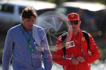 World © Octane Photographic Ltd. Formula 1 – Canadian GP - Paddock. Scuderia Ferrari SF71-H – Kimi Raikkonen. Circuit Gilles Villeneuve, Montreal, Canada. Friday 8th June 2018.