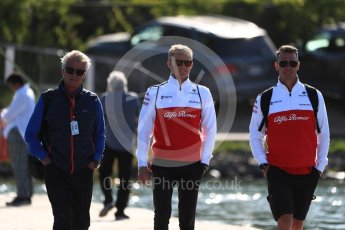 World © Octane Photographic Ltd. Formula 1 – Canadian GP - Paddock. Alfa Romeo Sauber F1 Team C37 – Marcus Ericsson. Circuit Gilles Villeneuve, Montreal, Canada. Friday 8th June 2018.