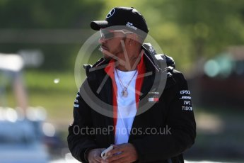 World © Octane Photographic Ltd. Formula 1 – Canadian GP - Paddock. Mercedes AMG Petronas Motorsport AMG F1 W09 EQ Power+ - Lewis Hamilton. Circuit Gilles Villeneuve, Montreal, Canada. Friday 8th June 2018.