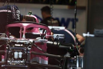 World © Octane Photographic Ltd. Formula 1 – Canadian GP - Thursday Pit Lane. Sahara Force India VJM11. Circuit Gilles Villeneuve, Montreal, Canada. Thursday 7th June 2018.