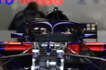 World © Octane Photographic Ltd. Formula 1 – Canadian GP - Thursday Pit Lane. Scuderia Toro Rosso STR13. Circuit Gilles Villeneuve, Montreal, Canada. Thursday 7th June 2018.