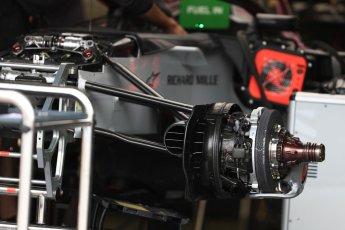World © Octane Photographic Ltd. Formula 1 – Canadian GP - Thursday Pit Lane. Haas F1 Team VF-18. Circuit Gilles Villeneuve, Montreal, Canada. Thursday 7th June 2018.