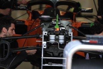 World © Octane Photographic Ltd. Formula 1 – Canadian GP - Thursday Pit Lane. McLaren MCL33. Circuit Gilles Villeneuve, Montreal, Canada. Thursday 7th June 2018.