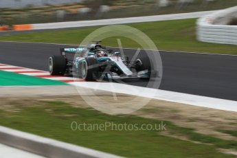World © Octane Photographic Ltd. Formula 1 – Winter Test 1. Mercedes AMG Petronas Motorsport AMG F1 W09 EQ Power+ - Lewis Hamilton. Circuit de Barcelona-Catalunya, Spain. Monday 26th February 2018.
