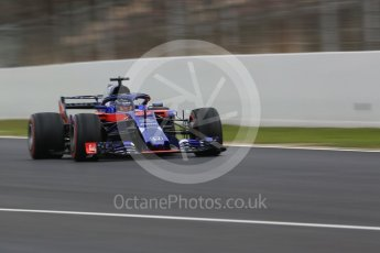 World © Octane Photographic Ltd. Formula 1 – Winter Test 1. Scuderia Toro Rosso STR13 – Brendon Hartley. Circuit de Barcelona-Catalunya, Spain. Monday 26th February 2018.