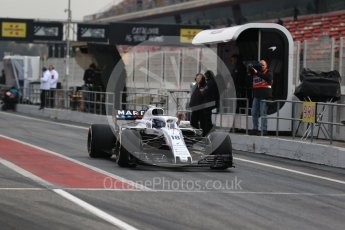 World © Octane Photographic Ltd. Formula 1 – Winter Test 1. Williams Martini Racing FW41 – Lance Stroll. Circuit de Barcelona-Catalunya, Spain. Monday 26th February 2018.