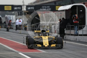 World © Octane Photographic Ltd. Formula 1 – Winter Test 1. Renault Sport F1 Team RS18 – Nico Hulkenberg. Circuit de Barcelona-Catalunya, Spain. Monday 26th February 2018.