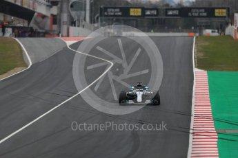 World © Octane Photographic Ltd. Formula 1 – Winter Test 1. Mercedes AMG Petronas Motorsport AMG F1 W09 EQ Power+ - Valtteri Bottas. Circuit de Barcelona-Catalunya, Spain. Tuesday 27th February 2018.