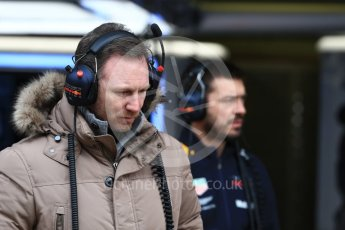 World © Octane Photographic Ltd. Formula 1 – Winter Test 1. Aston Martin Red Bull Racing TAG Heuer Team Principal - Christian Horner . Circuit de Barcelona-Catalunya, Spain. Tuesday 27th February 2018.