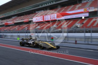 World © Octane Photographic Ltd. Formula 1 – Winter Test 2. Renault Sport F1 Team RS18 – Nico Hulkenberg. Circuit de Barcelona-Catalunya, Spain. Thursday 8th March 2018.