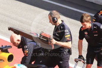 World © Octane Photographic Ltd. Formula 1 – Winter Test 2. Aston Martin Red Bull Racing TAG Heuer RB14 airbox cooling probe. Circuit de Barcelona-Catalunya, Spain. Friday 9th March 2018.