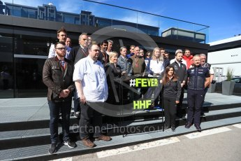 World © Octane Photographic Ltd. Formula 1 – Winter Test 2. The #F1 paddock family tribute to Henry Hope-Frost #HHF #fever Circuit de Barcelona-Catalunya, Spain. Friday 9th March 2018.