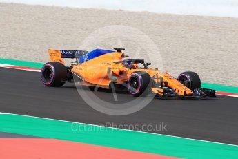 World © Octane Photographic Ltd. Formula 1 – Winter Test 2. McLaren MCL33 – Fernando Alonso. Circuit de Barcelona-Catalunya, Spain. Friday 9th March 2018.