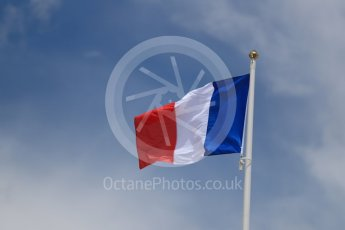 World © Octane Photographic Ltd. Formula 1 – French GP - Paddock. French Flag. Circuit Paul Ricard, Le Castellet, France. Sunday 24th June 2018.