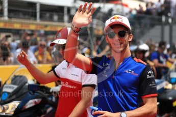 World © Octane Photographic Ltd. Formula 1 – French GP - Drivers Parade. Scuderia Toro Rosso STR13 – Pierre Gasly. Circuit Paul Ricard, Le Castellet, France. Sunday 24th June 2018.