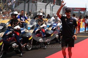 World © Octane Photographic Ltd. Formula 1 – French GP - Drivers Parade. Aston Martin Red Bull Racing TAG Heuer RB14 – Daniel Ricciardo. Circuit Paul Ricard, Le Castellet, France. Sunday 24th June 2018.