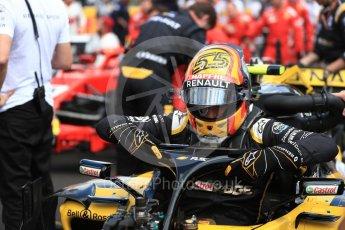 World © Octane Photographic Ltd. Formula 1 – French GP - Grid. Renault Sport F1 Team RS18 – Carlos Sainz. Circuit Paul Ricard, Le Castellet, France. Sunday 24th June 2018.