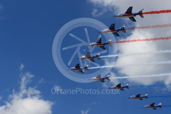 World © Octane Photographic Ltd. Formula 1 – French GP - Grid. Patrouille de France. Circuit Paul Ricard, Le Castellet, France. Sunday 24th June 2018.