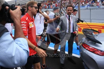 World © Octane Photographic Ltd. Formula 1 – French GP - Drivers Parade. Scuderia Ferrari SF71-H – Sebastian Vettel. Circuit Paul Ricard, Le Castellet, France. Sunday 24th June 2018.