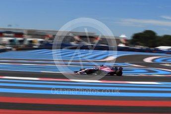 World © Octane Photographic Ltd. Formula 1 – French GP - Practice 1. Sahara Force India VJM11 - Esteban Ocon. Circuit Paul Ricard, Le Castellet, France. Friday 22nd June 2018.
