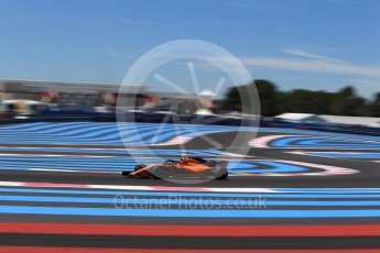 World © Octane Photographic Ltd. Formula 1 – French GP - Practice 1. McLaren MCL33 – Stoffel Vandoorne. Circuit Paul Ricard, Le Castellet, France. Friday 22nd June 2018.