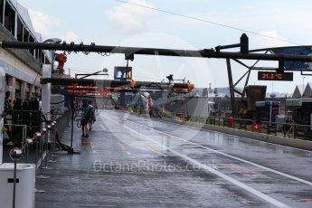 World © Octane Photographic Ltd. Formula 1 – French GP - Practice 3. Wet Pit lane. Circuit Paul Ricard, Le Castellet, France. Saturday 23rd June 2018.