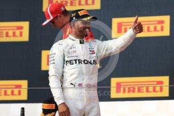 World © Octane Photographic Ltd. Formula 1 – French GP - Race Podium. Mercedes AMG Petronas Motorsport AMG F1 W09 EQ Power+ - Lewis Hamilton. Circuit Paul Ricard, Le Castellet, France. Sunday 24th June 2018.