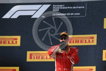 World © Octane Photographic Ltd. Formula 1 – French GP - Race Podium. Scuderia Ferrari SF71-H – Kimi Raikkonen. Circuit Paul Ricard, Le Castellet, France. Sunday 24th June 2018.